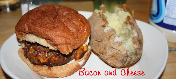 Bacon and Cheese Stuffed Burgers ~ LifeOfJoy.me