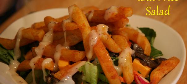 Chicken and Fries Salad ~ LifeOfJoy.me