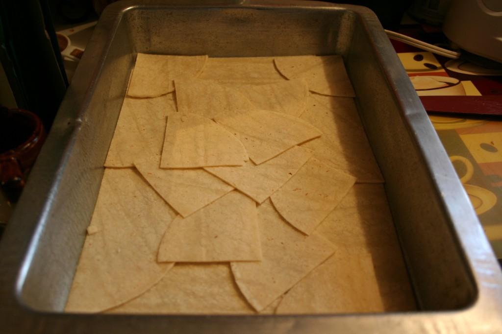 Layered Tortilla Pieces ~ LifeOfJoy.me