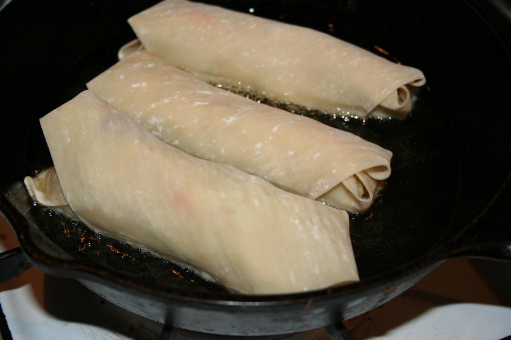 Frying Egg Rolls ~ LifeOfJoy.me
