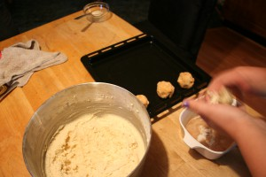 Rolling Cookie Batter ~ LifeOfJoy.me