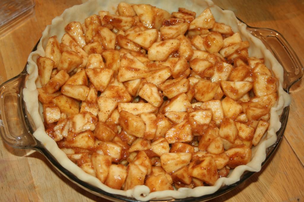 Apple Crumble Pie ~ LifeOfJoy.me