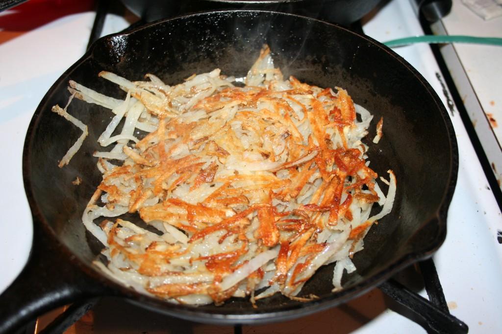 Hash Browns cooking ~ LifeOfJoy.me