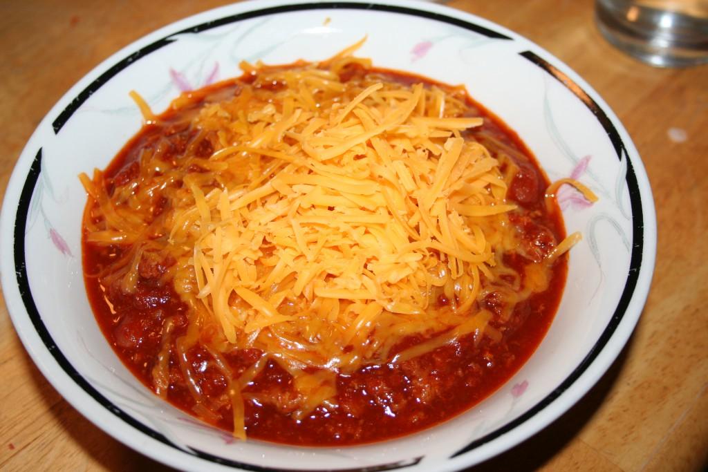 Cheesy Chili ~ LifeofJoy.me