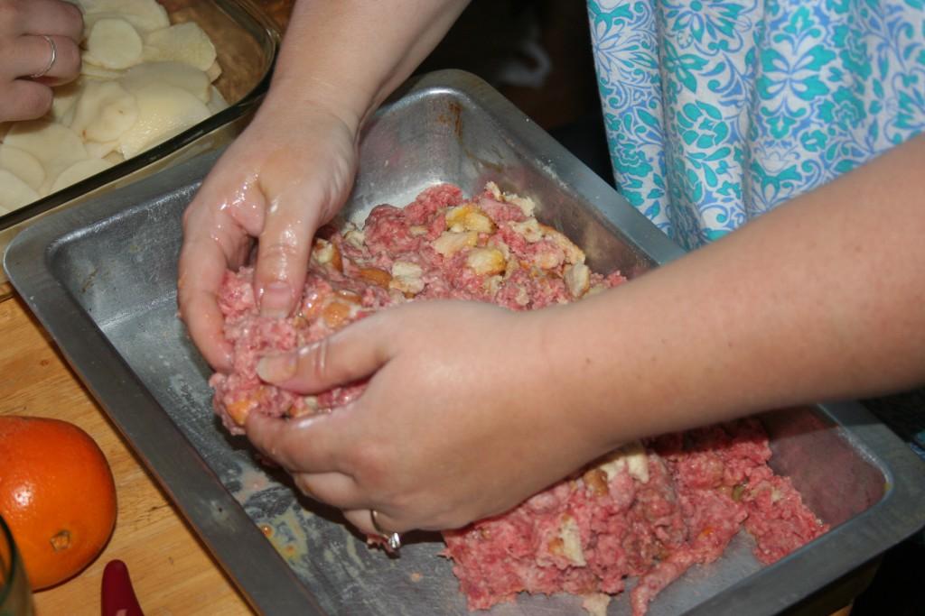 Mixing Meatloaf ~ LifeofJoy.me