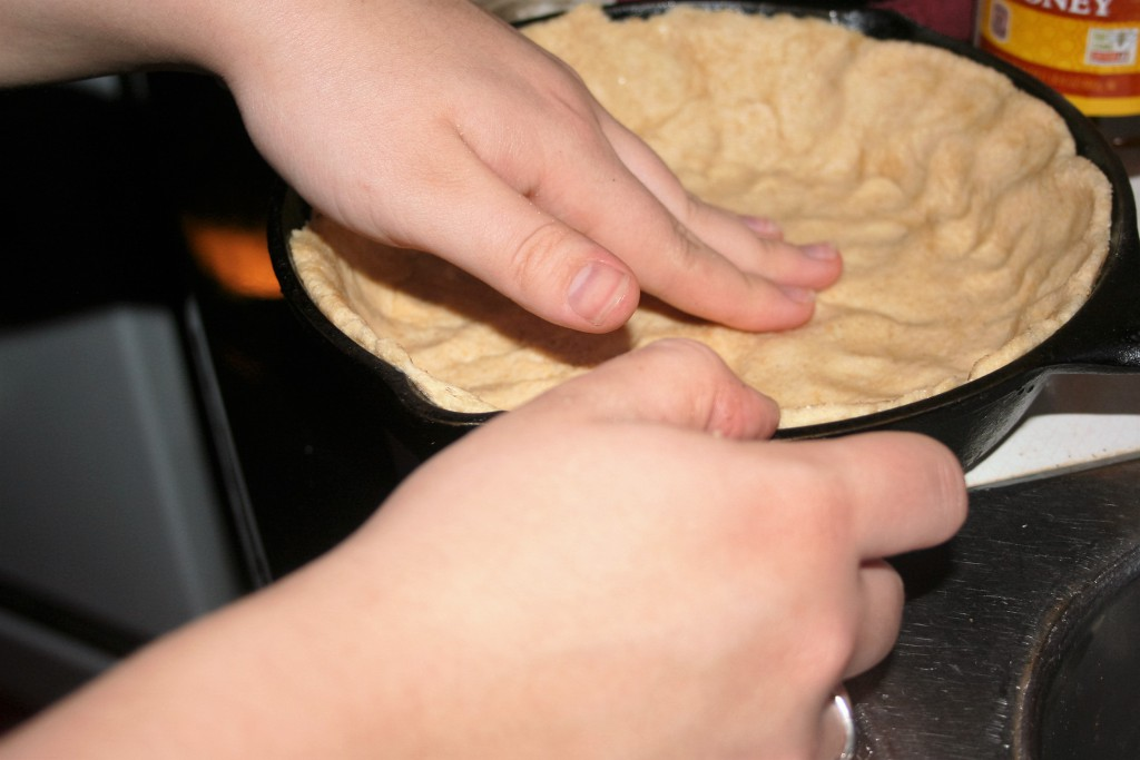 Small pan with dough in it ~ Lifeofjoy.me