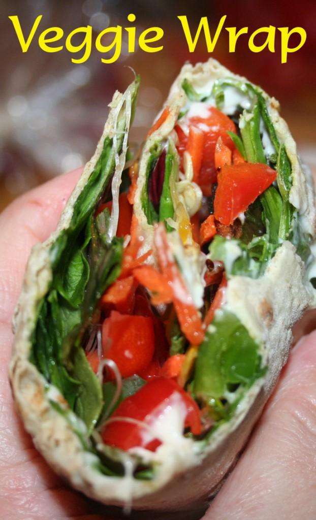 Veggie Wrap ~ Lifeofjoy.me