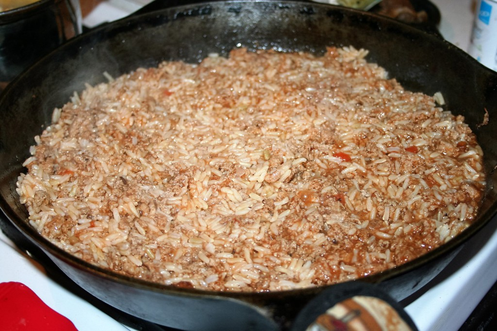 Meat and Rice Skillet ~ Lifeofjoy.me