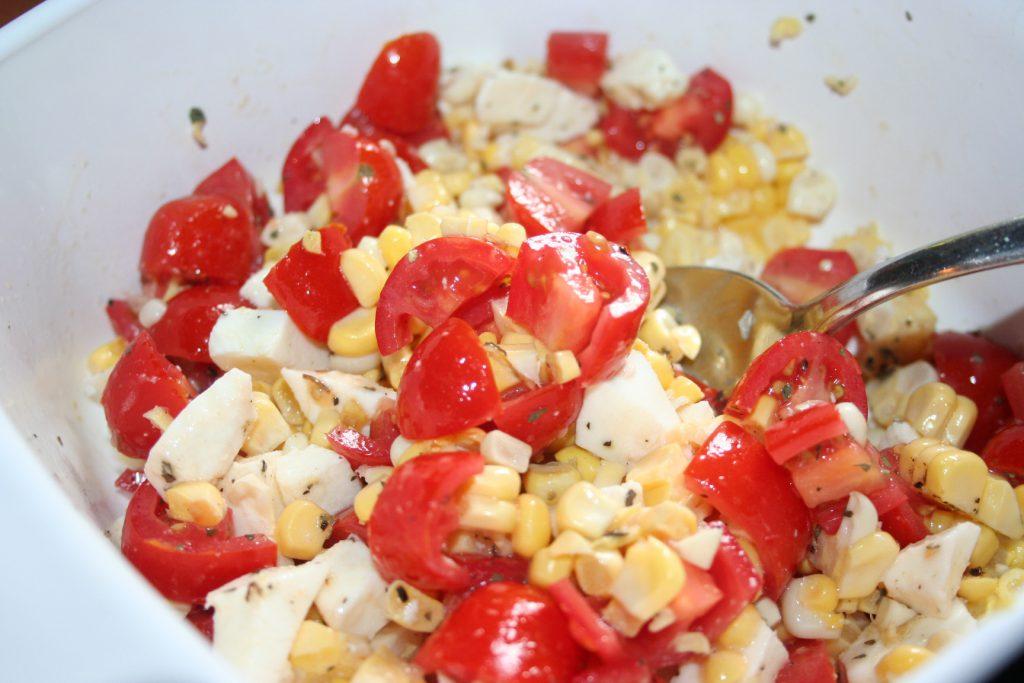 Corn, Tomato, and Mozzarella Salad ~ Lifeofjoy.me