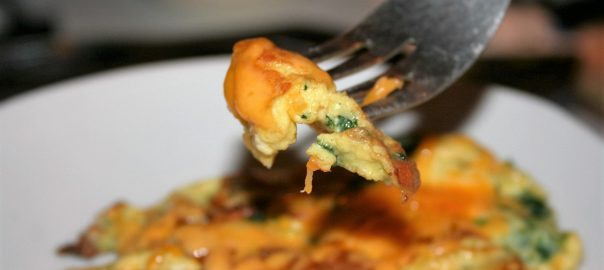 Spinach Omelet ~ Lifeofjoy.me
