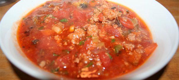 Fat Bomb Hamburger Soup ~ Lifeofjoy.me
