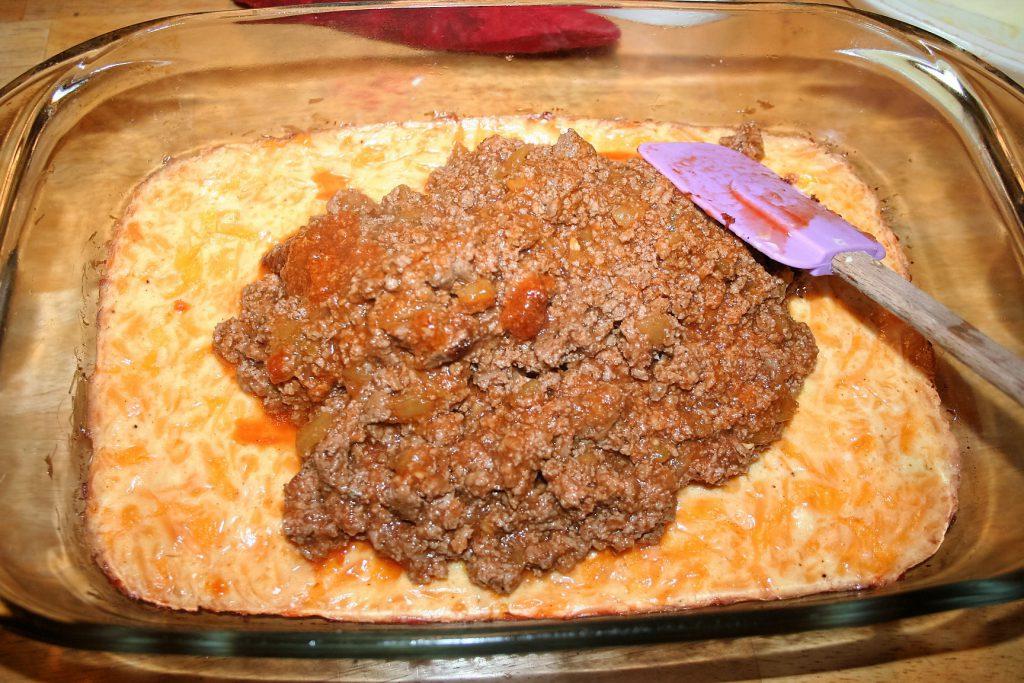 Enchilada Bake Meat and Crust ~ Lifeofjoy.me