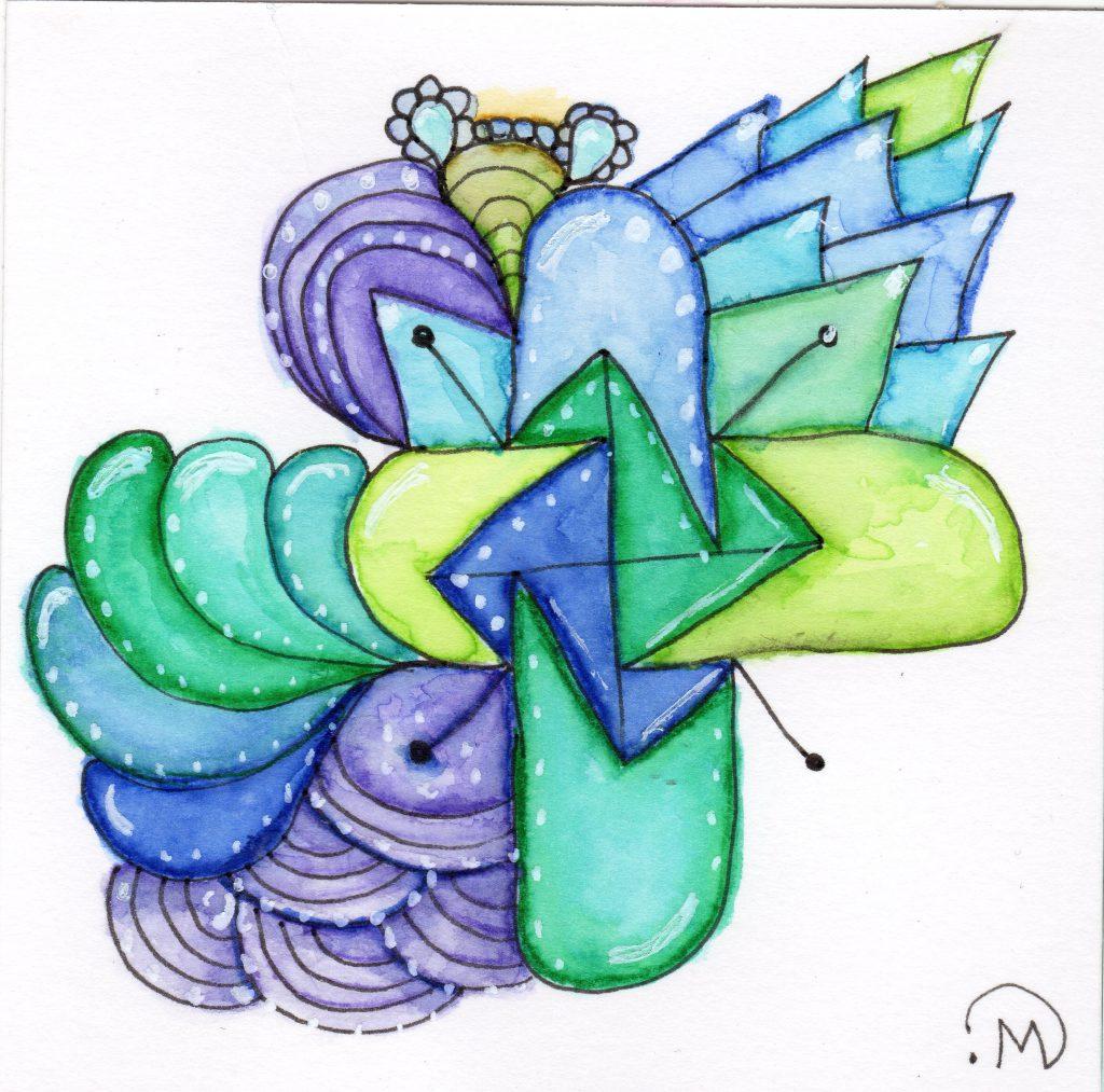 Watercolor Tile ~ Lifeofjoy.me