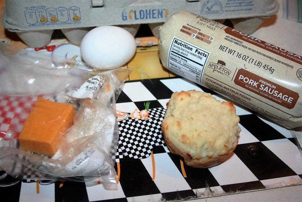 Sausage, Egg, cheese, biscuit ~ lifeofjoy.me