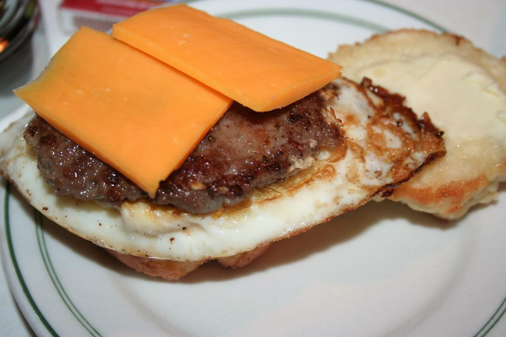 Sausage egg and cheese biscuit ~ Lifeofjoy.me