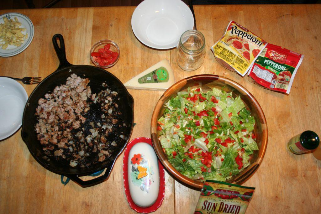 Pizza Salad 1 ~ Lifeofjoy.me