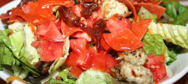 Pizza Salad ~ Lifeofjoy.me
