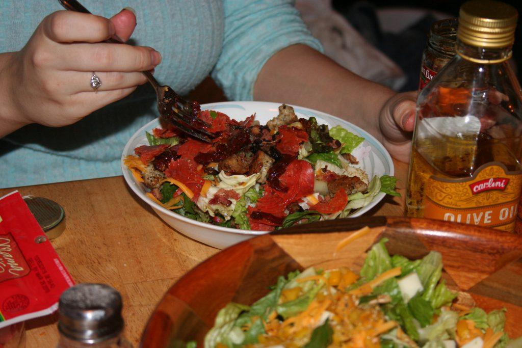 Tiff's Pizza Salad ~ Lifeofjoy.me