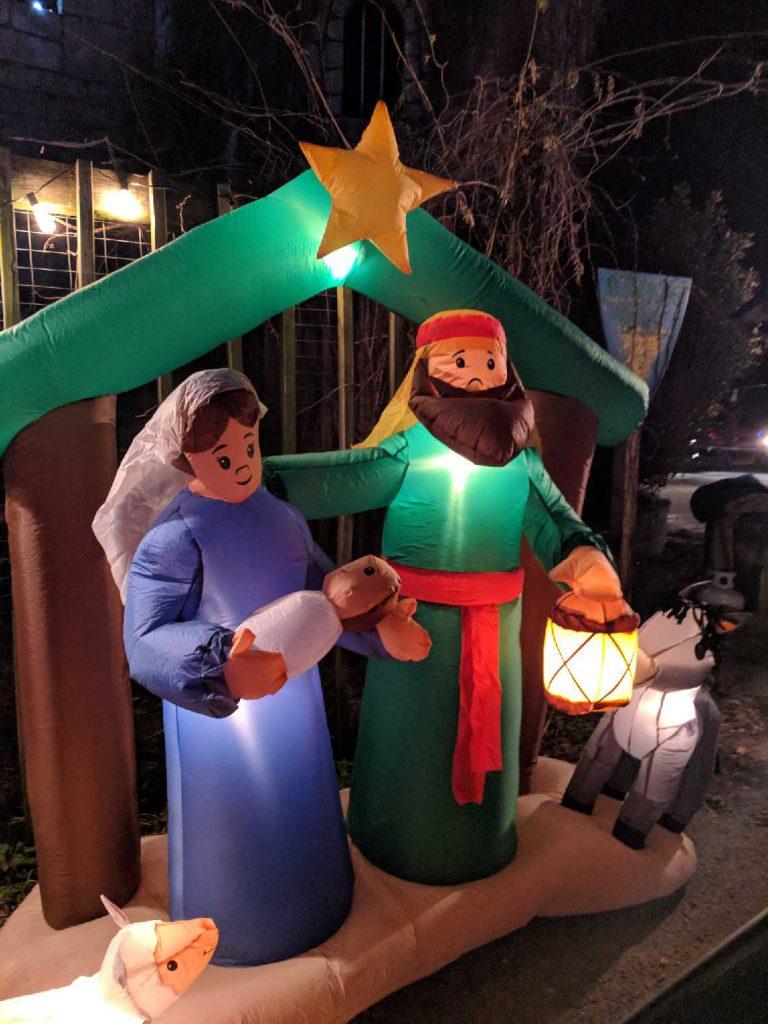 Nativity Blow Up ~ Lifeofjoy.me