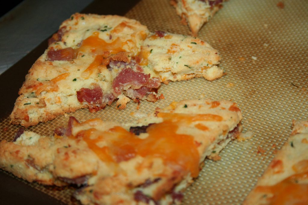 Ham and Cheese Scones ~ Lifeofjoy.me