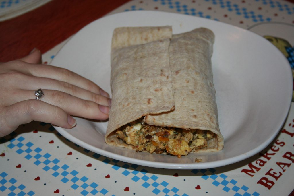 Sausage Breakfast Burrito ~ Lifeofjoy.me
