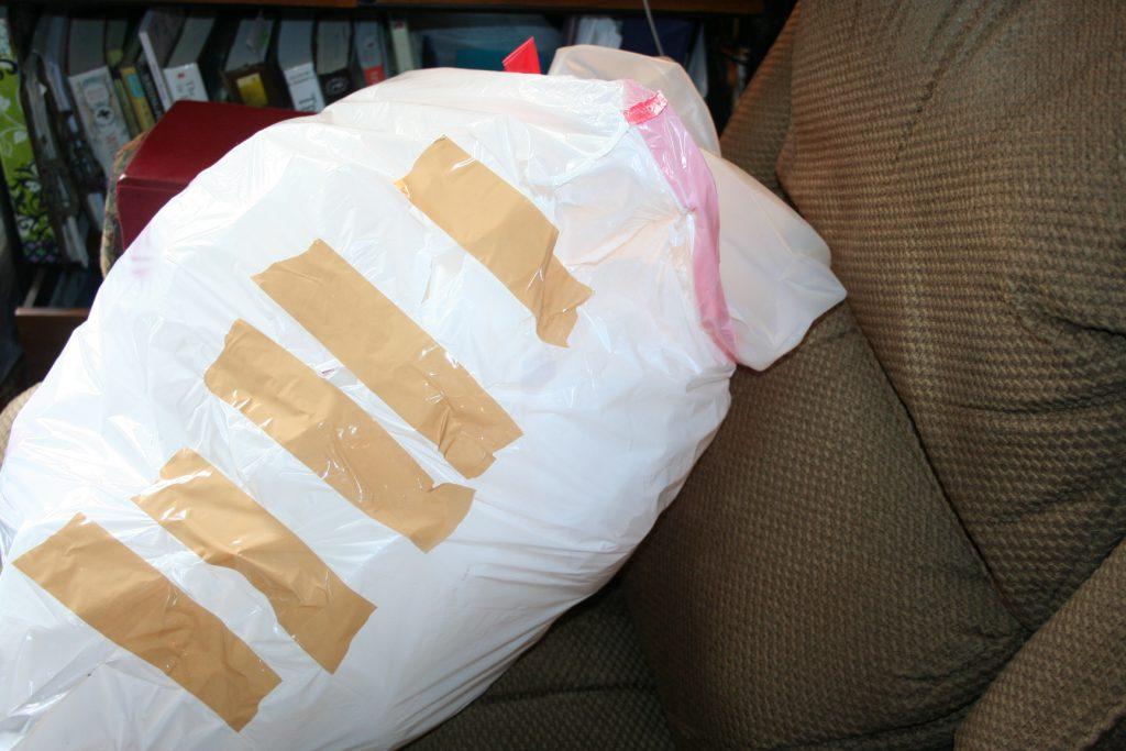 Taped cheap GV trash bag ~ Lifeofjoy.me
