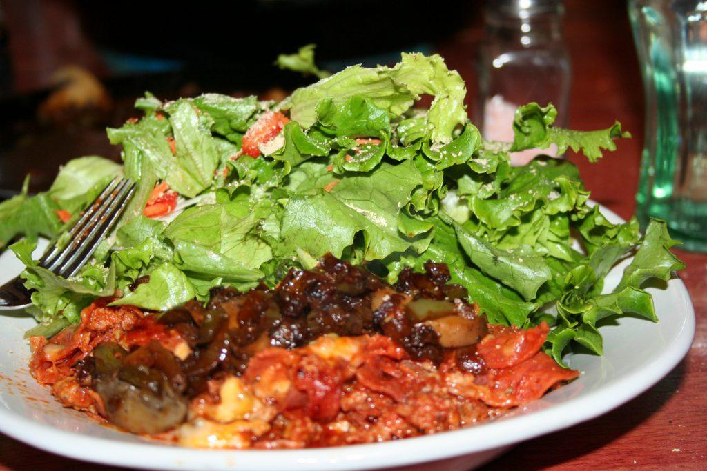 Pizza Skillet and Salad ~ Lifeofjoy.me