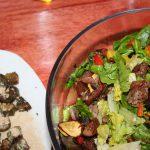 Warm Veggie Salad and Roased Okra ~ Lifeofjoy.me