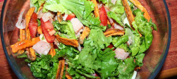 Sweet Potato Fries Salad ~ Lifeofjoy.me