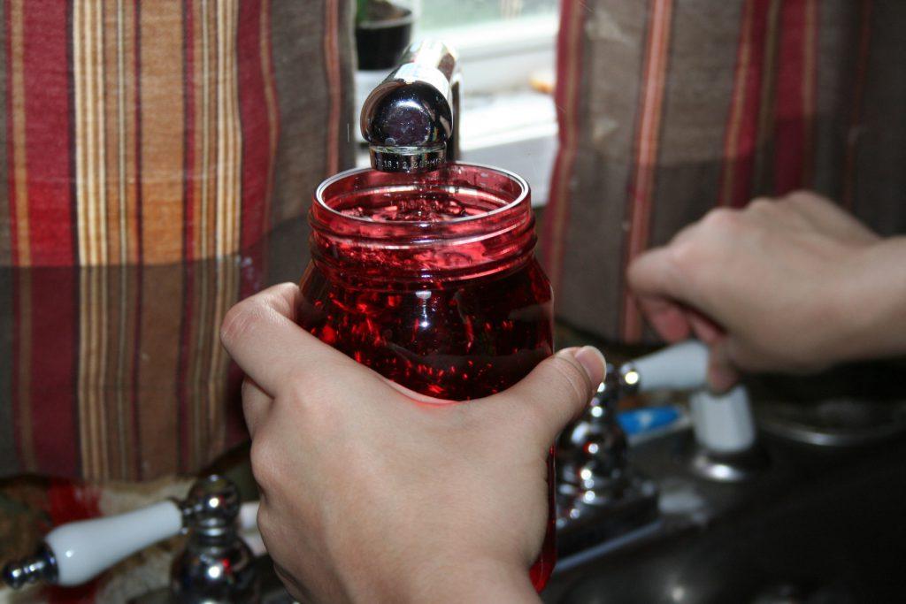 water in jar ~ Lifeofjoy.me