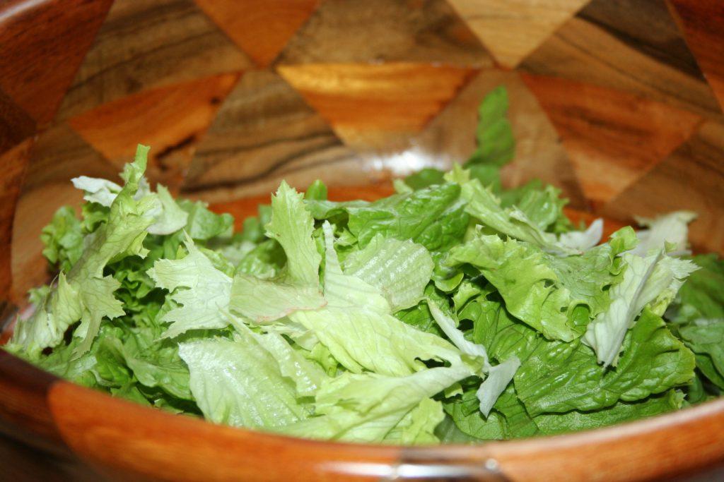 Lettuce in salad bowl ~ Lifeofjoy.me
