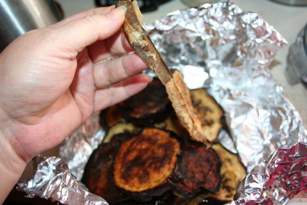 peeling eggplant ~ Lifeofjoy.me