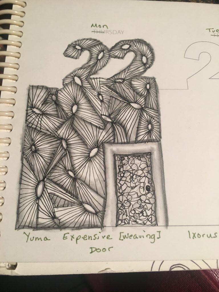 Inktober 22 tangle Yuma ~ Lifeofjoy.me