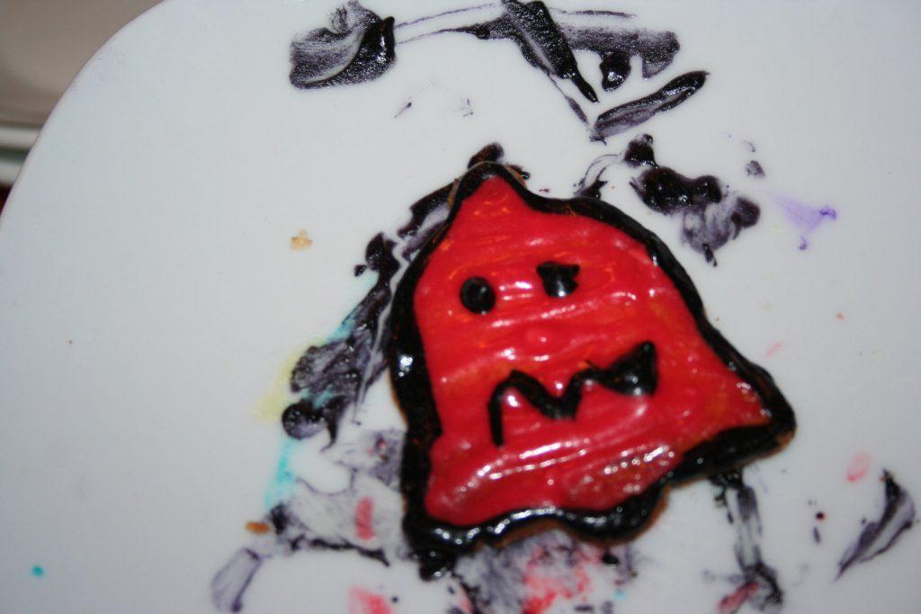 pac man ghost cookie ~ LIfeofjoy.me