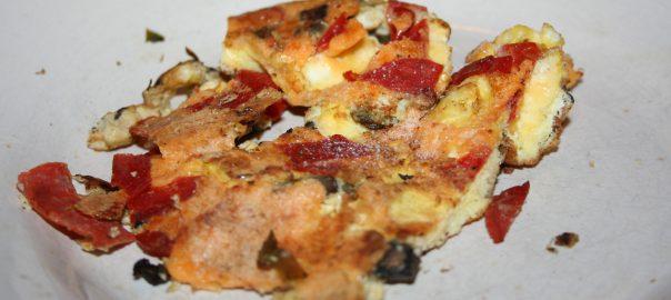Scrambled Eggs ala pizza ~ Lifeofjoy.me