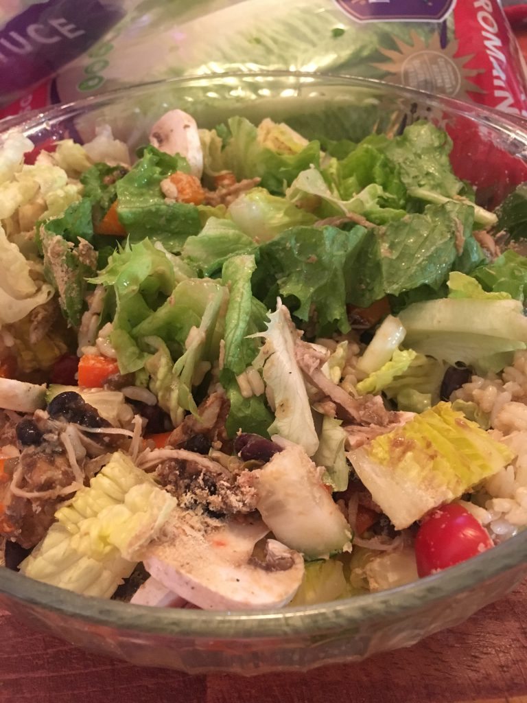 Salad with squash and chicken ~ Lifeofjoy.me