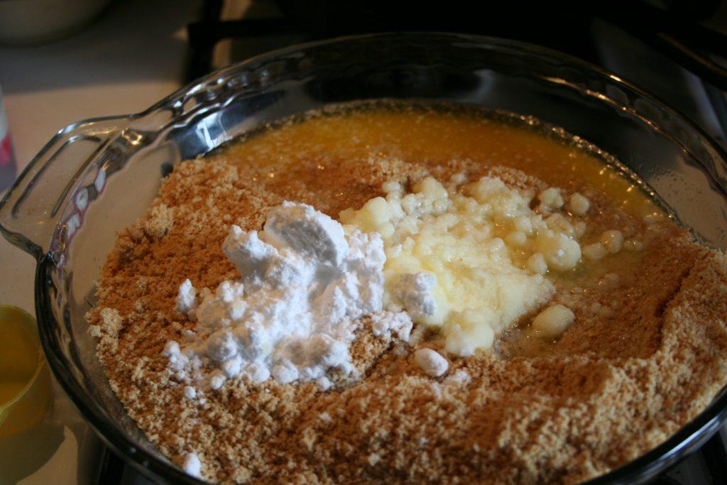 combine crust ingredients ~ Lifeofjoy.me
